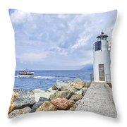 Lighthouse Camogli Throw Pillow