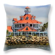 Lighthouse Charm Throw Pillow
