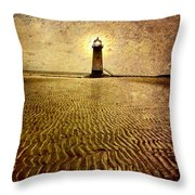 Lighthouse Grunge Throw Pillow