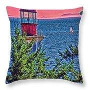 Lighthouse Hdr Throw Pillow