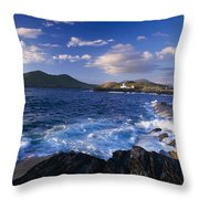 Lighthouse In The Distance, Fort Point Throw Pillow