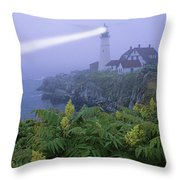 Lighthouse In The Evening Throw Pillow