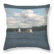 Lighthouse Island Throw Pillow