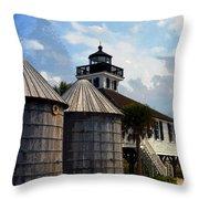 Lighthouse On Gasparilla Throw Pillow