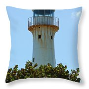 Lighthouse On Grand Turk 2 Throw Pillow