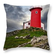 Lighthouse On Hill Throw Pillow