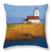Lighthouse On Prince Edward Island Throw Pillow