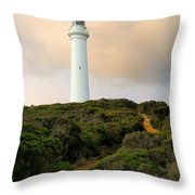 Lighthouse Path Throw Pillow