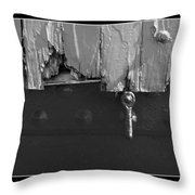 Lighthouse Shutter Black And White Throw Pillow