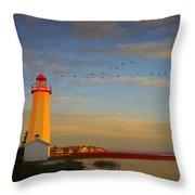 Lighthouse, Sylvan Lake, Alberta, Canada Throw Pillow