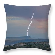Lighting At The Arches Throw Pillow