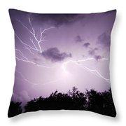 Lightning Burst Throw Pillow