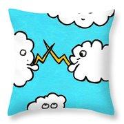 Lightning Fight Throw Pillow