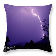 Lightning Over The Rogue Valley Throw Pillow