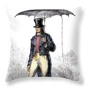 Lightning Rod Umbrella Throw Pillow
