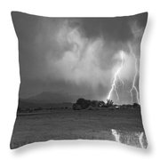 Lightning Striking Longs Peak Foothills 8cbw Throw Pillow by James BO  Insogna