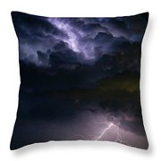 Lightning Thunderhead Storm Rumble Throw Pillow