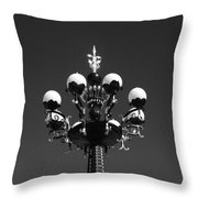 Lights In The Sky In Black And White Throw Pillow