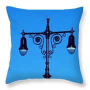 Lights Of Coney Island Throw Pillow