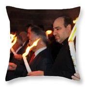 Lights Parade In Beit Jala Throw Pillow