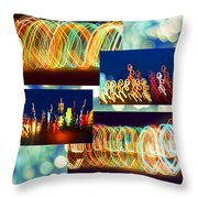 Lightshow Collage Throw Pillow