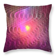 Lightwaves Throw Pillow