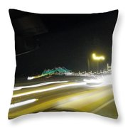 Lightwriting Tappan Zee Bridge Throw Pillow