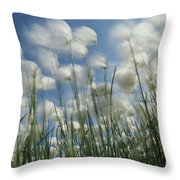 Like Spots Of White Clouds, The Aging Throw Pillow