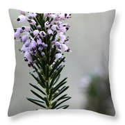 Lil Flower In Lilac Throw Pillow
