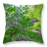 Lilac In The Air Throw Pillow