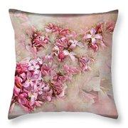 Lilacs And Wegia Throw Pillow