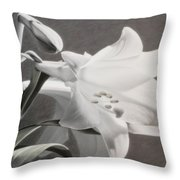Lilies Throw Pillow