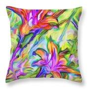Lilies Transformed Throw Pillow