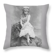 Lillian Russell 1882 Throw Pillow