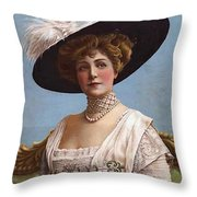 Lillian Russell On Cover Throw Pillow