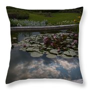 Lillies And Clouds Throw Pillow