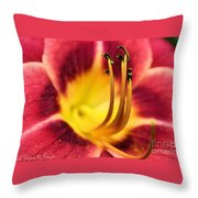 Lilly For A Day Throw Pillow
