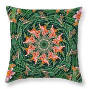Lilly In Abstract Throw Pillow