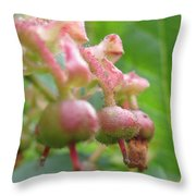 Lilly Of The Valley Close Up Throw Pillow