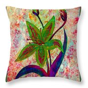 Lily Abstraction Throw Pillow