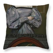 Lily Beau Pepys Throw Pillow