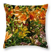 Lily Garden Bouquet  Throw Pillow