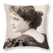 Lily Hanbury (1874-1908) Throw Pillow