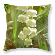 Lily Of The Valley - In White #2 Throw Pillow