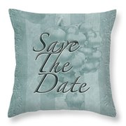 Lily Of The Valley Save The Date Greeting Card Throw Pillow