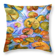 Lily Pad Time Throw Pillow