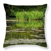Lily Pads At Giverney Throw Pillow