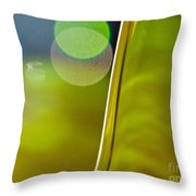 Lime Abstract Two Throw Pillow by Dana Kern