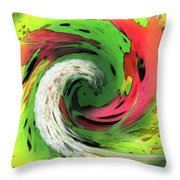 Lime And Red Throw Pillow