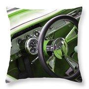 Lime Chevy Impala  Throw Pillow